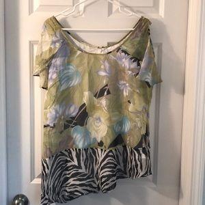Cold shoulder blouse.  Size Large.